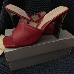 Aldo 'Fortune' Open Toe Heeled Shoe